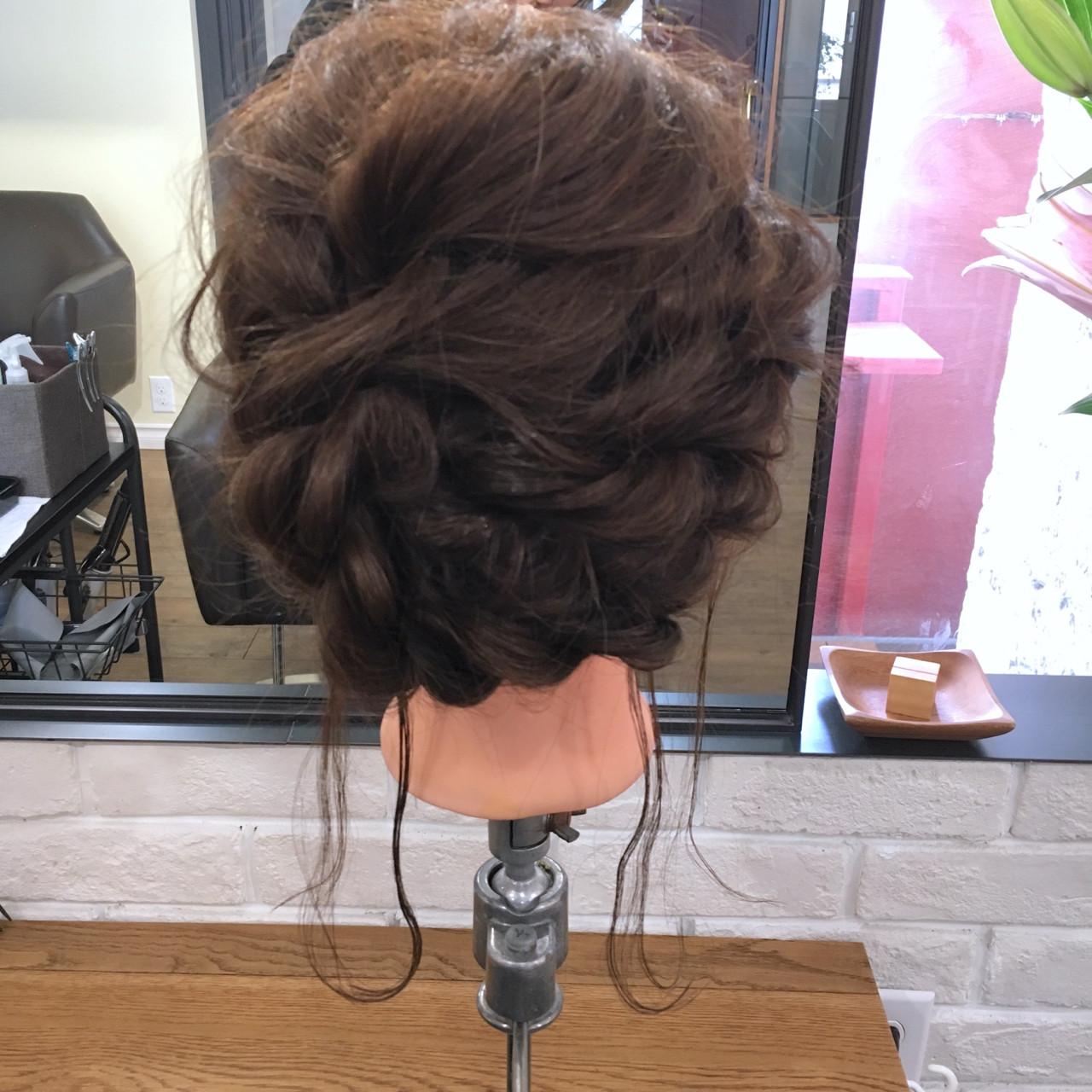 ゆるふわ ミディアム ヘアアレンジ 簡単ヘアアレンジ ヘアスタイルや髪型の写真・画像 | 上川美幸 / carlm