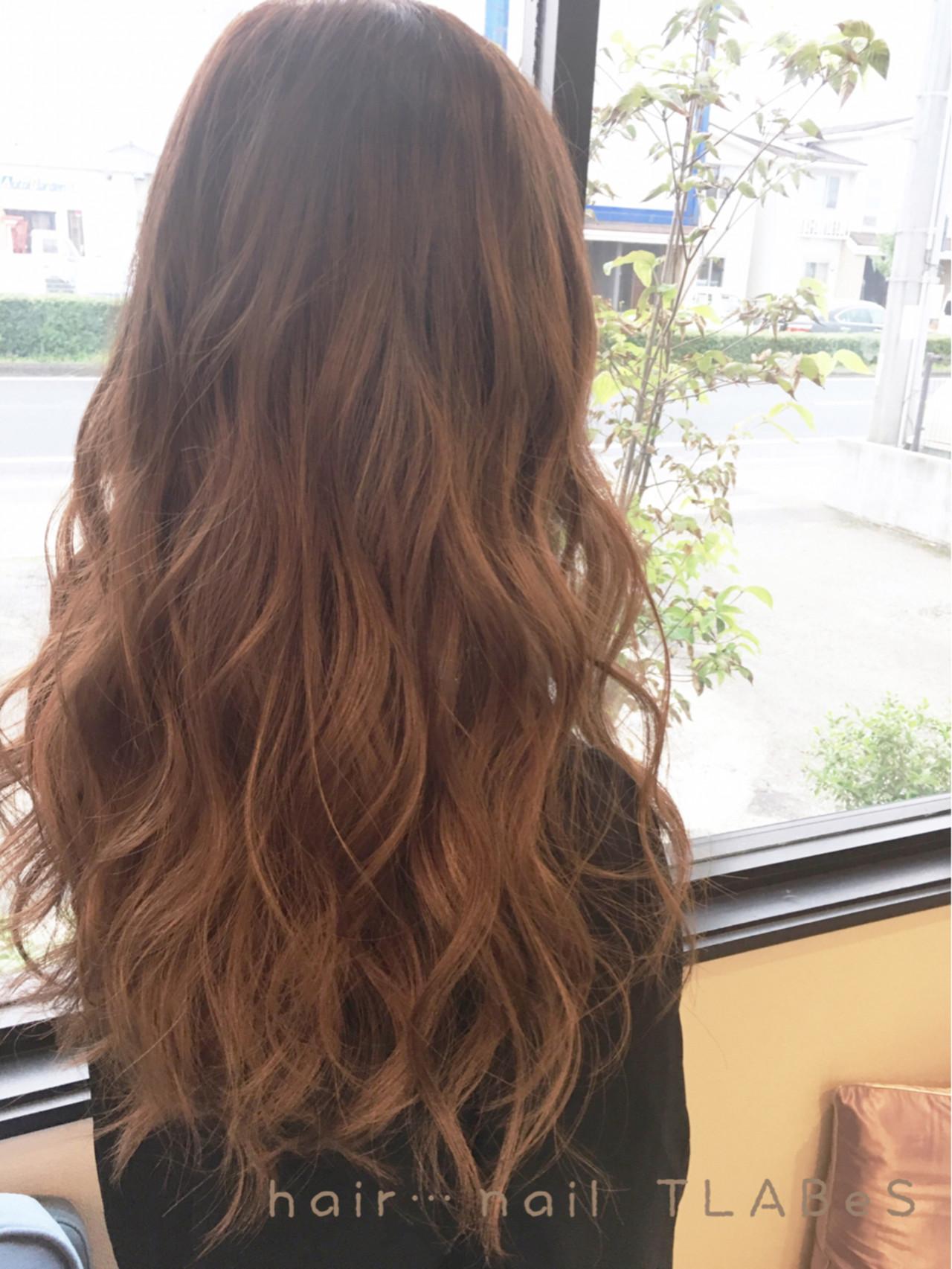 ロング 秋 外国人風 グラデーションカラー ヘアスタイルや髪型の写真・画像