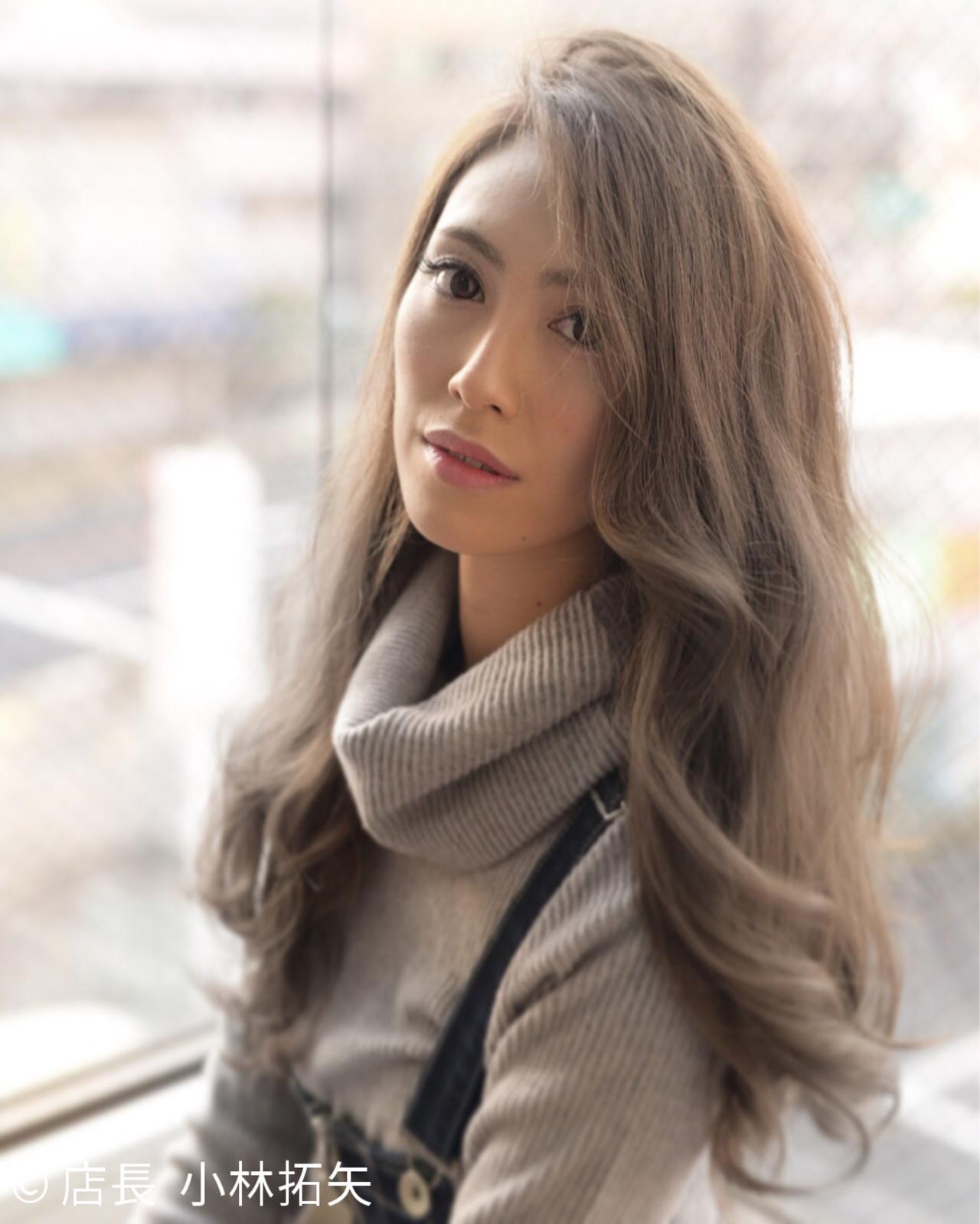 外国人風 こなれ感 ハイライト 小顔 ヘアスタイルや髪型の写真・画像