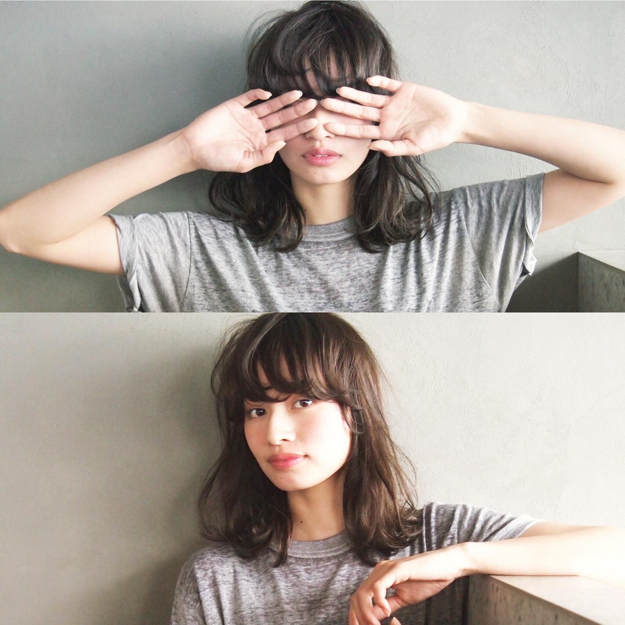 黒髪 暗髪 ミディアム 簡単 ヘアスタイルや髪型の写真・画像 | UEKI/nanuk / nanuk二子玉川