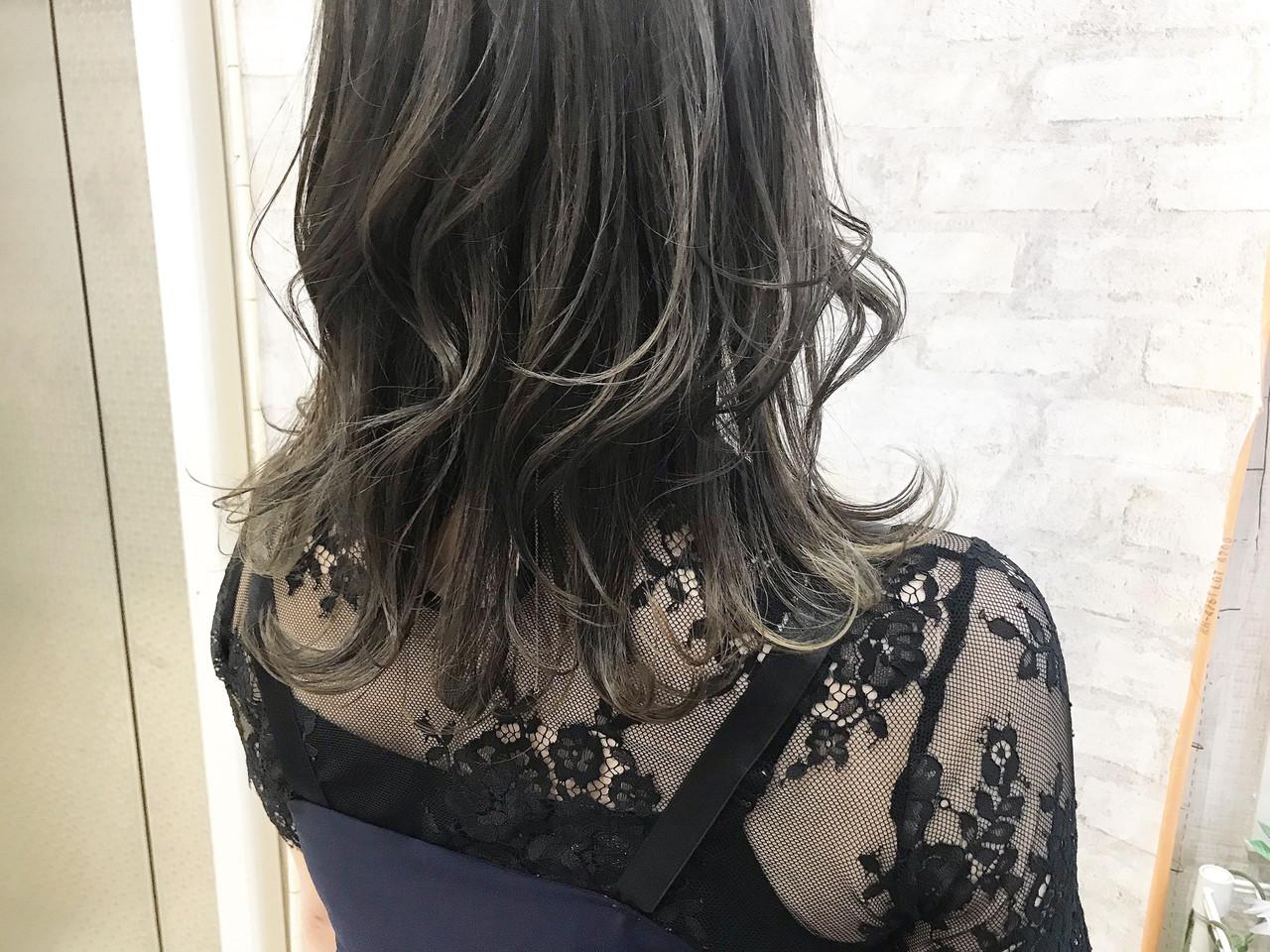 ハイライト 極細ハイライト ガーリー 大人ハイライト ヘアスタイルや髪型の写真・画像
