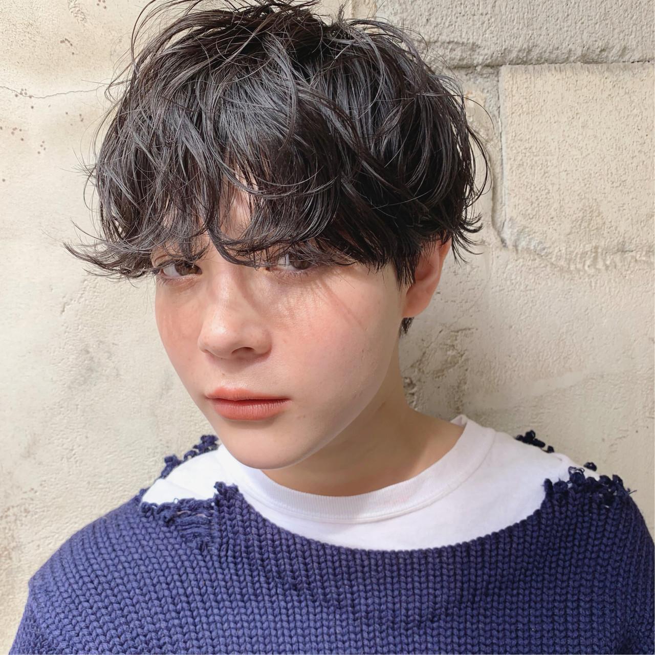 パーマ ゆるふわ アンニュイほつれヘア ストリート ヘアスタイルや髪型の写真・画像