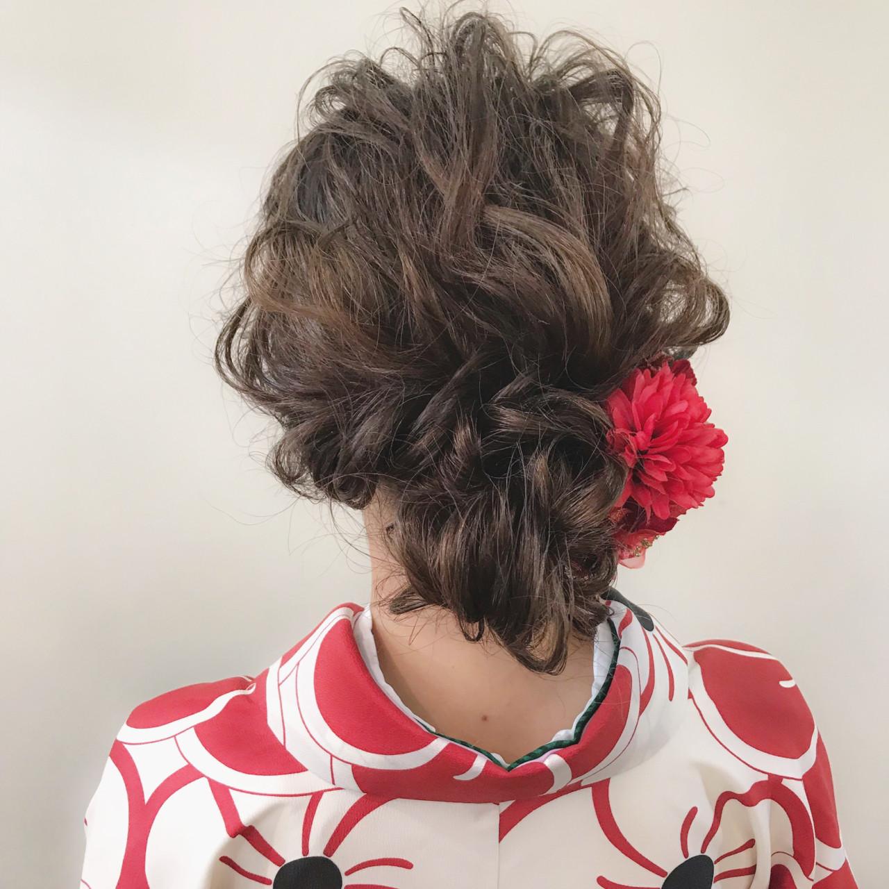 ナチュラル ブリーチ ミディアム 成人式 ヘアスタイルや髪型の写真・画像