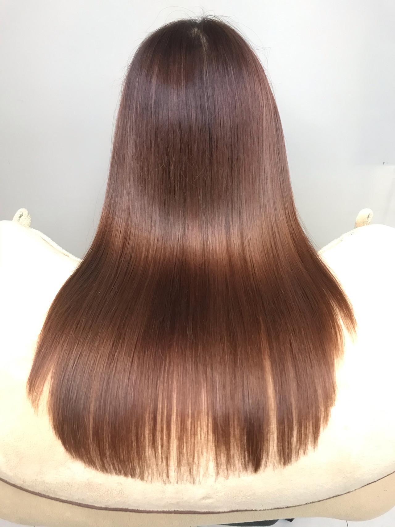 髪質改善 ロング 髪質改善トリートメント ナチュラル ヘアスタイルや髪型の写真・画像