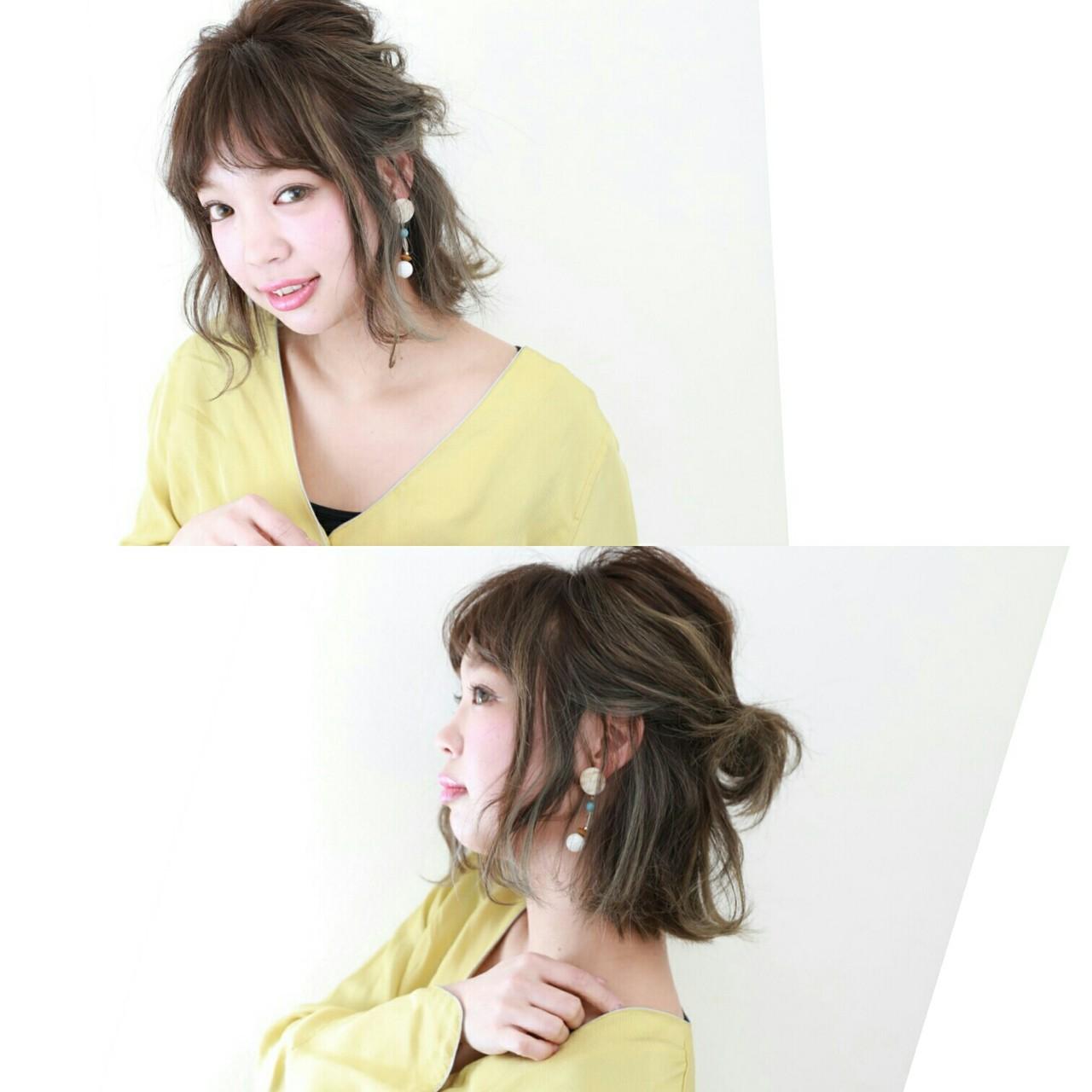 簡単ヘアアレンジ ガーリー 女子会 ヘアアレンジ ヘアスタイルや髪型の写真・画像