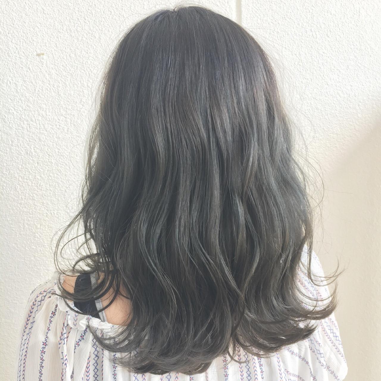 外国人風 外国人風カラー ハイライト フェミニン ヘアスタイルや髪型の写真・画像