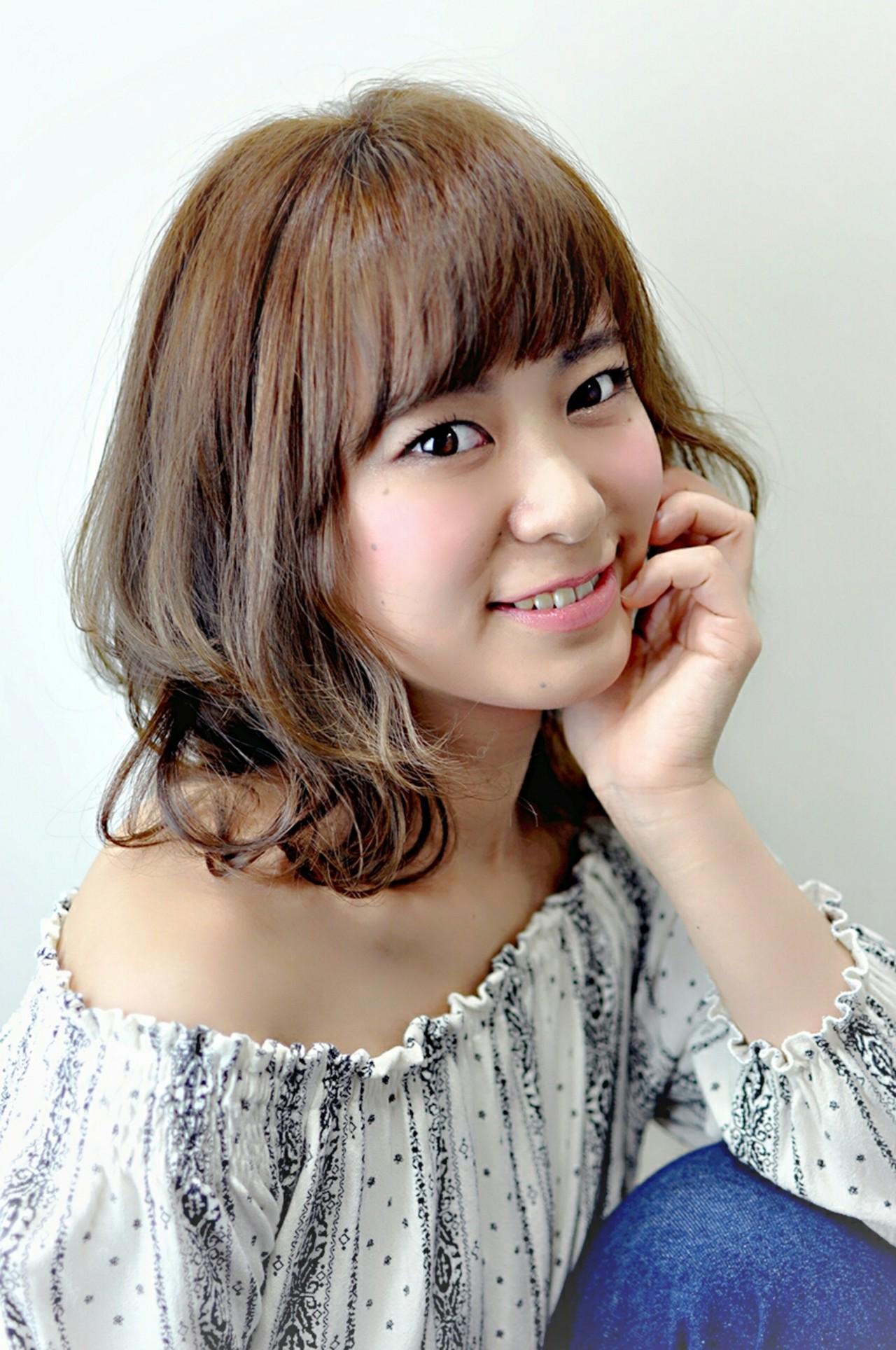 大人かわいい ミディアム ハイトーン ゆるふわ ヘアスタイルや髪型の写真・画像 | 瀬尾 孝浩 / KESTRA