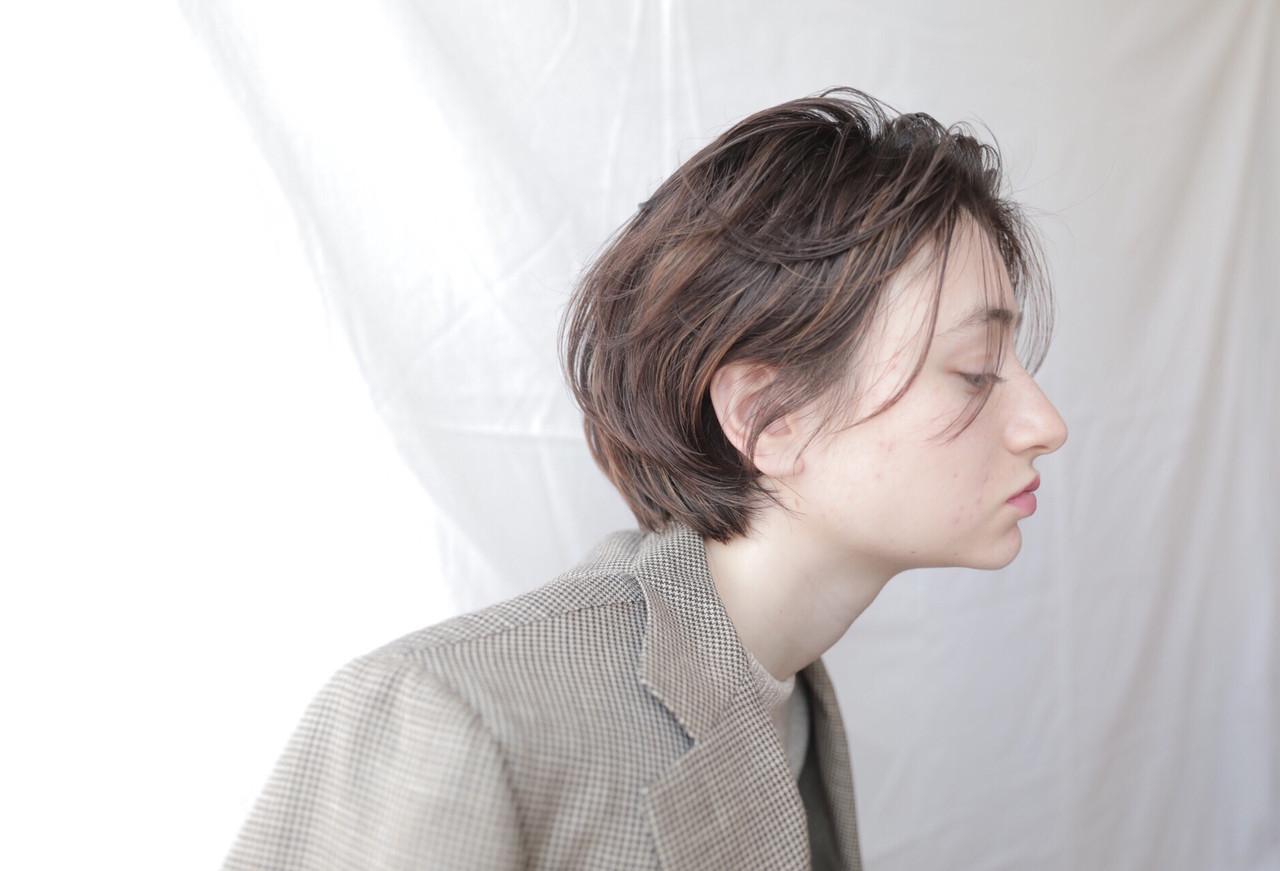 アウトドア アンニュイほつれヘア ボブ ヘアアレンジ ヘアスタイルや髪型の写真・画像