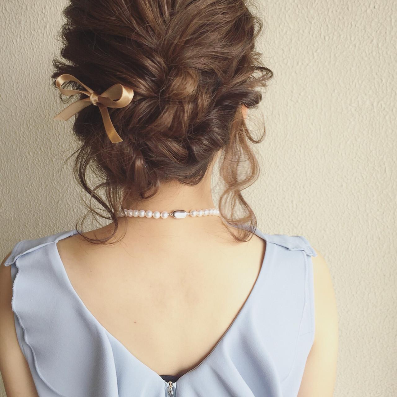 ロング ヘアアレンジ 結婚式 二次会 ヘアスタイルや髪型の写真・画像
