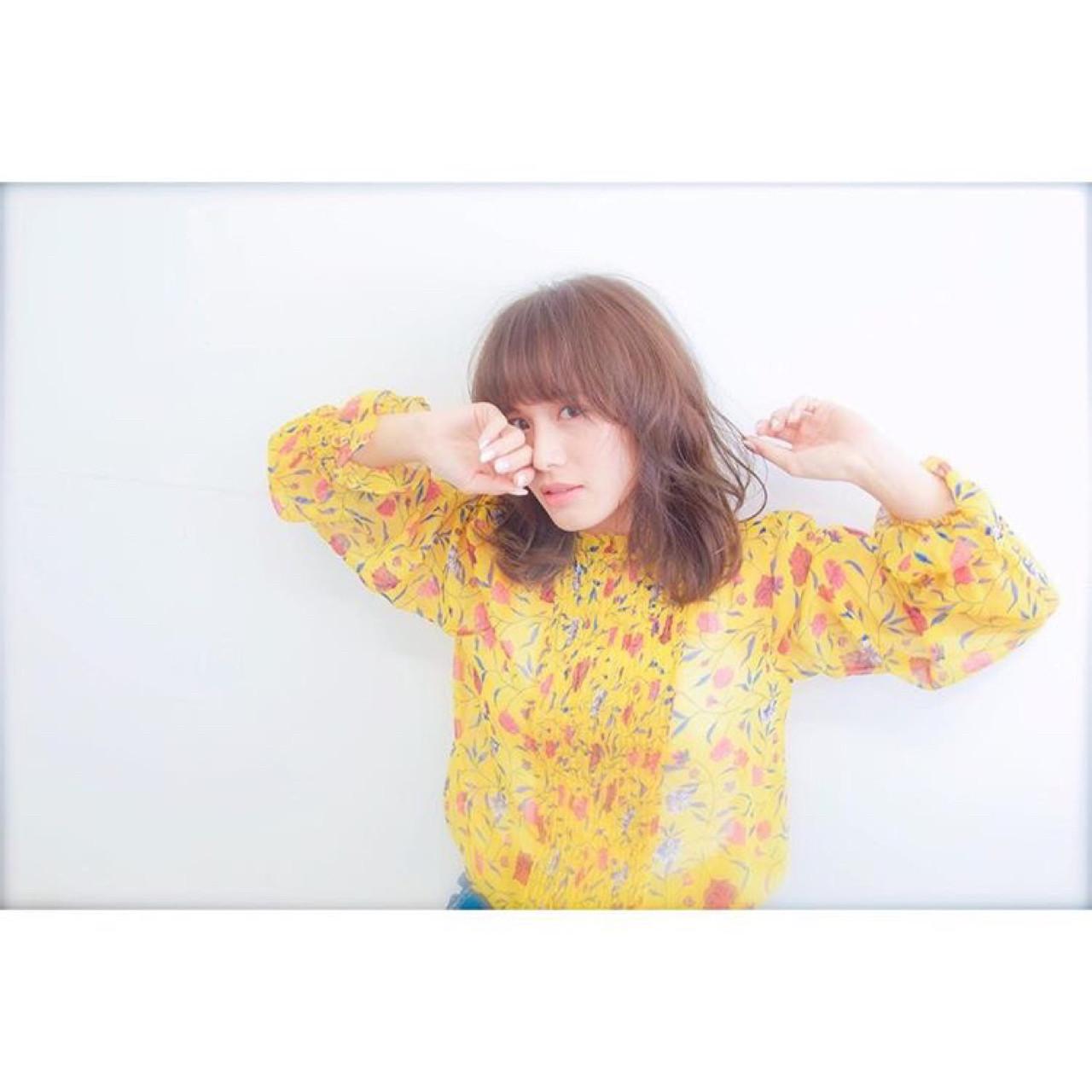 ニュアンス 春 外国人風 ミルクティー ヘアスタイルや髪型の写真・画像 | サン /