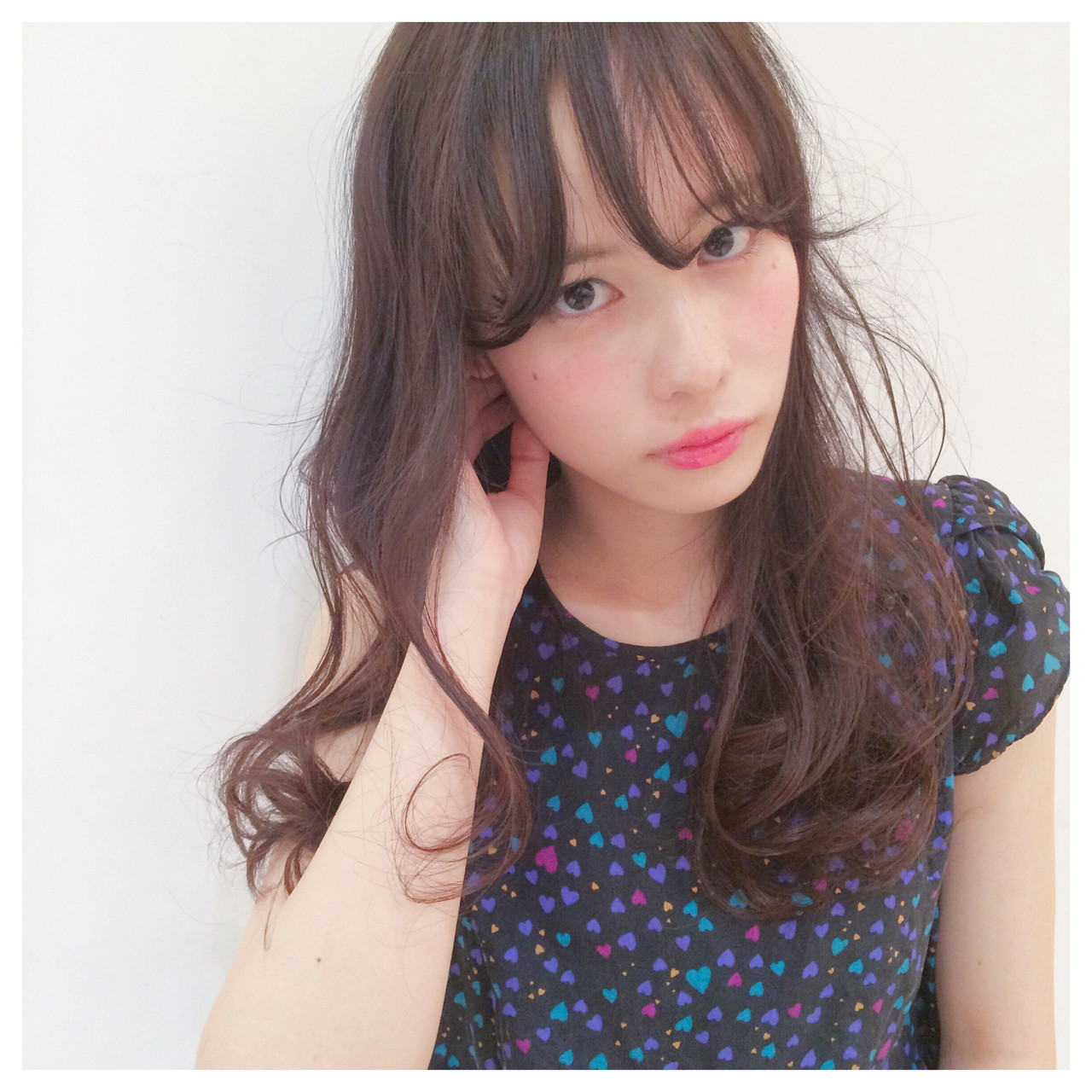 ガーリー 暗髪 ゆるふわ パーマ ヘアスタイルや髪型の写真・画像 | hashimoto/LOUIE / LOUIE