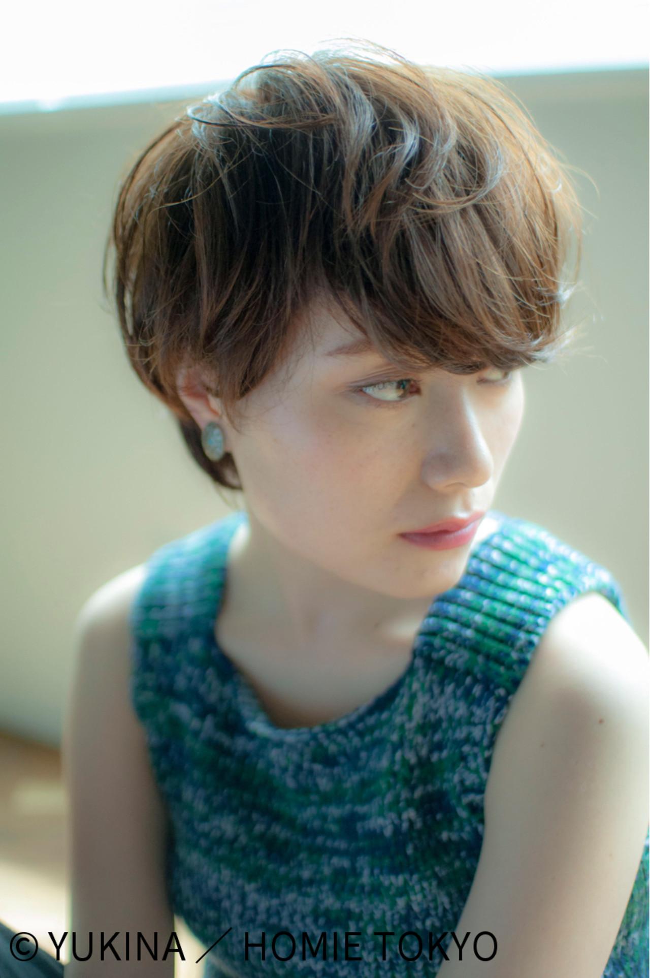マッシュ ショートボブ ショート ナチュラル ヘアスタイルや髪型の写真・画像