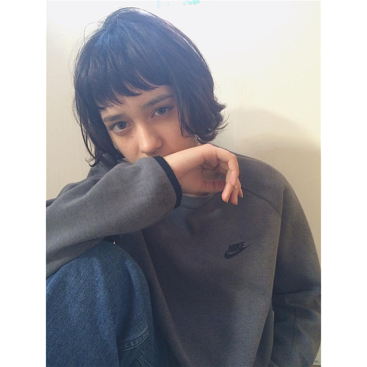 ボブ 外国人風 ストリート ハイライト ヘアスタイルや髪型の写真・画像 | NAOYA KARASAWA / krabät