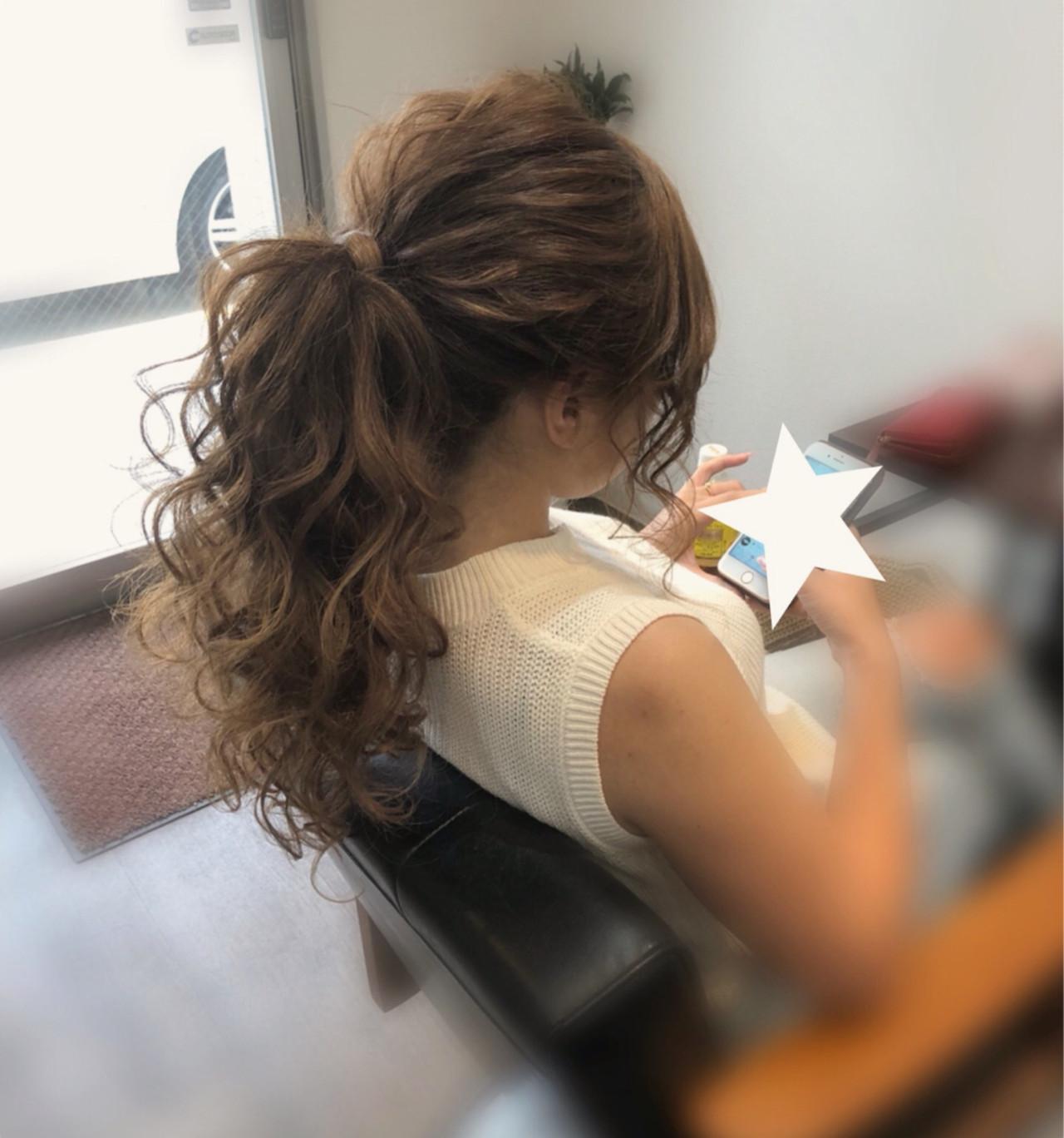 ロング ヘアアレンジ ポニーテール アップスタイル ヘアスタイルや髪型の写真・画像