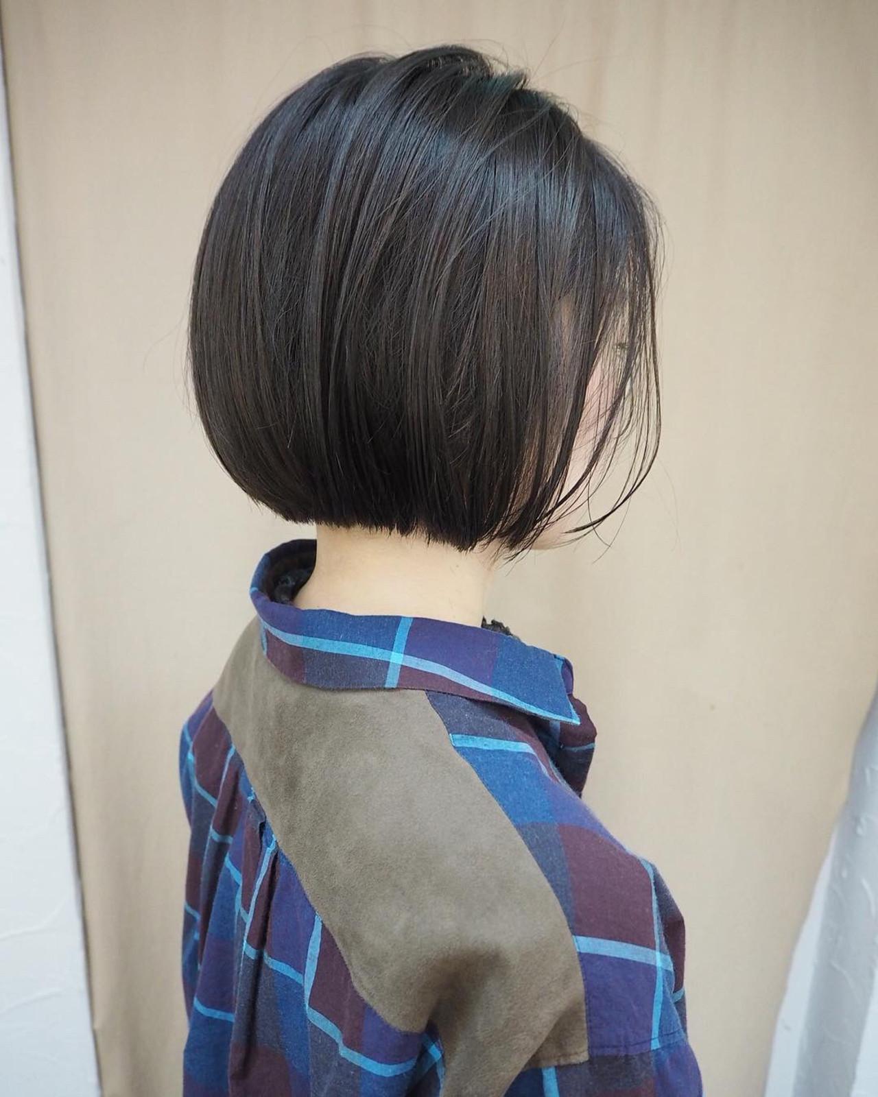 デート 黒髪 ショートボブ ミニボブ ヘアスタイルや髪型の写真・画像 | 宮迫 真美 / airfeel