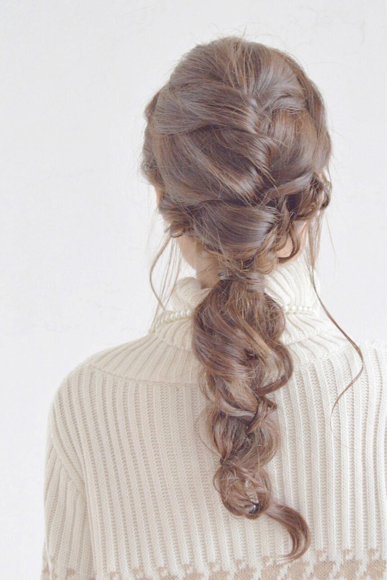 ヘアアレンジ 編み込み 三つ編み 愛され ヘアスタイルや髪型の写真・画像 | 加山 暸汰 / till