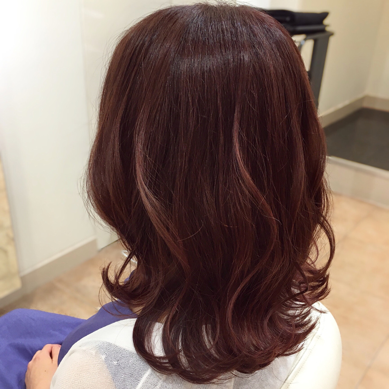 チェリーピンク エレガント ピンク ヘアカラー ヘアスタイルや髪型の写真・画像 | 平本 詠一 / fabris