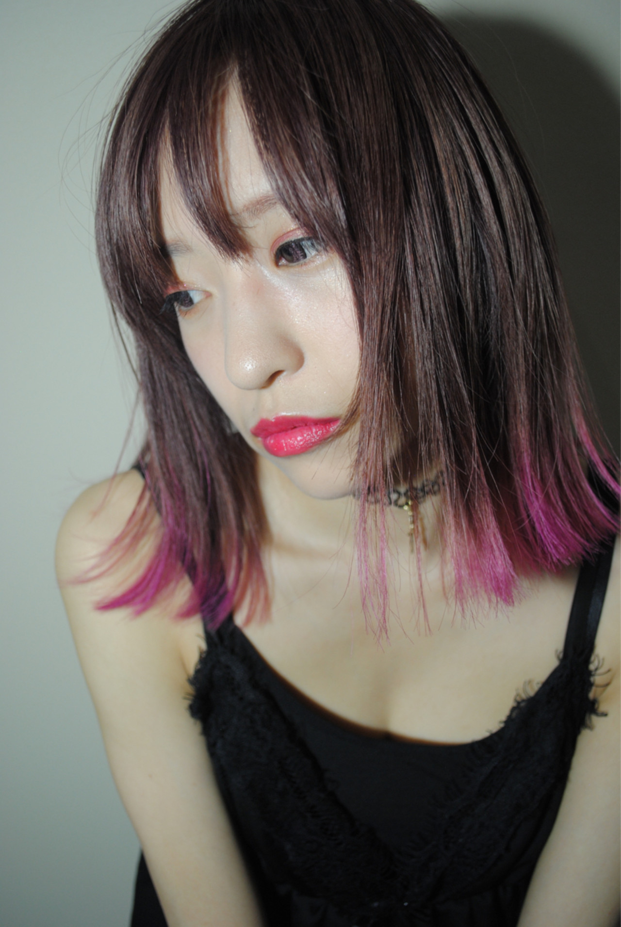 ボブ ベリーピンク 外国人風 ラベンダー ヘアスタイルや髪型の写真・画像 | 野中 由貴 / owlhair