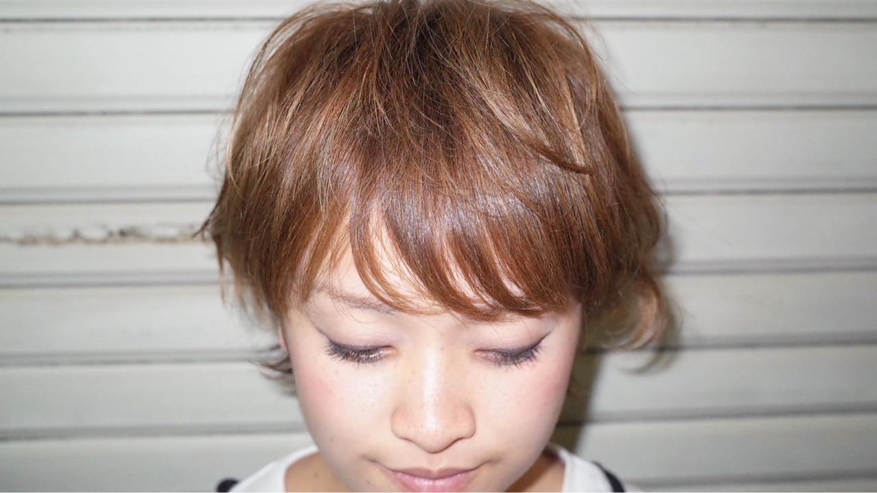 シースルーバング ナチュラル ショート 前髪あり ヘアスタイルや髪型の写真・画像