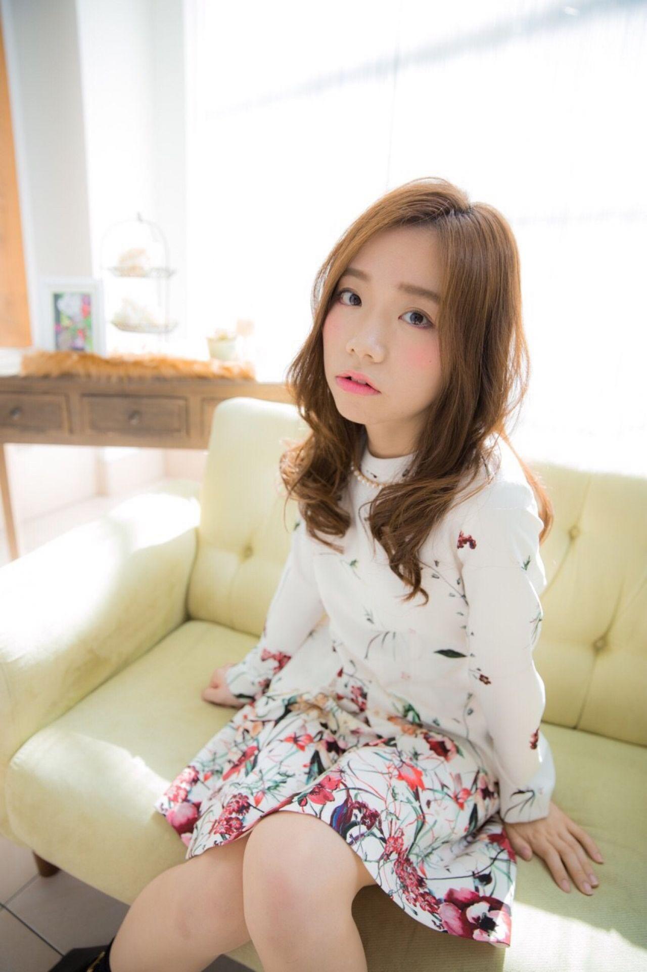 ロング モテ髪 春 センターパート ヘアスタイルや髪型の写真・画像 | risa /