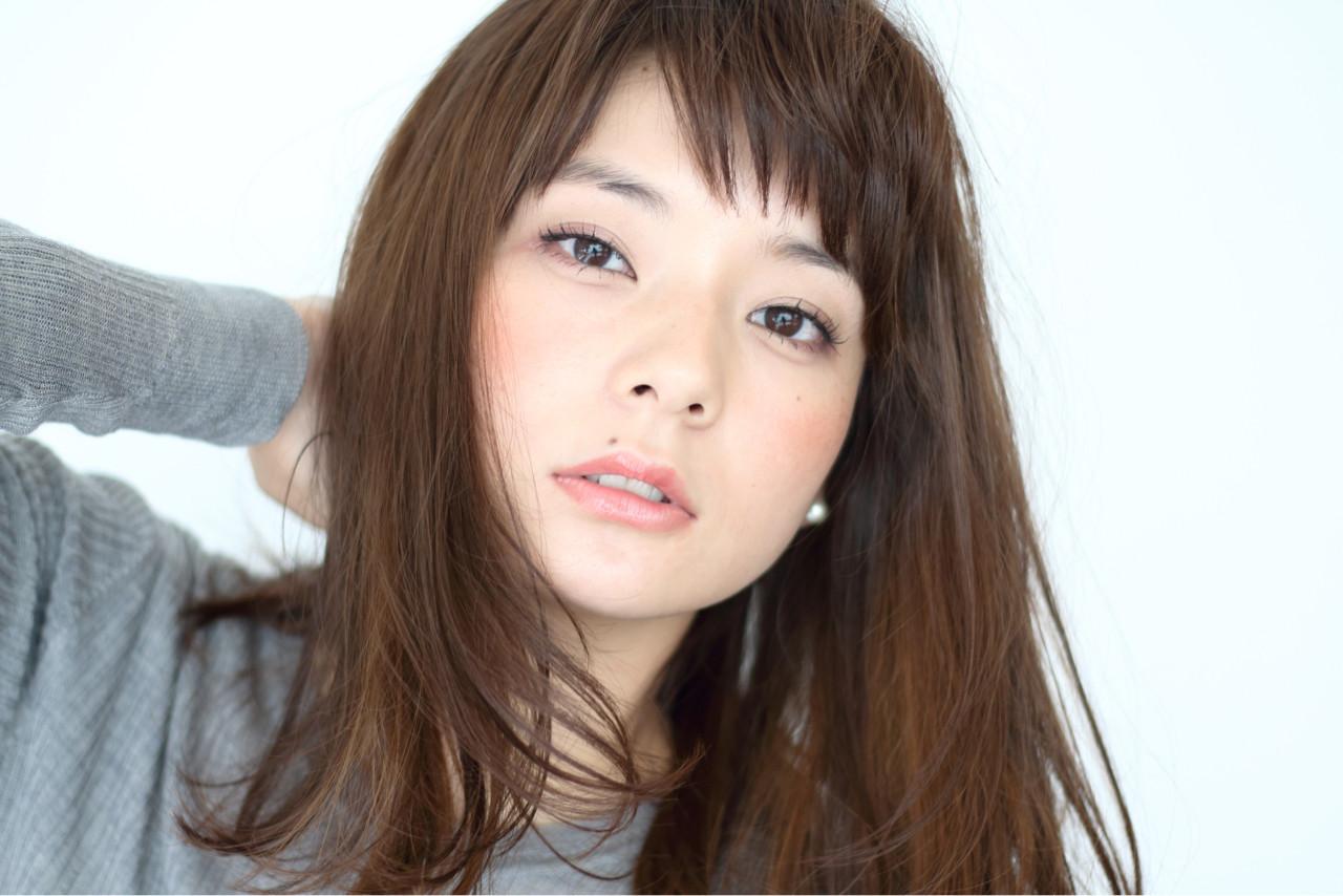 卵型 ゆるふわ セミロング ナチュラル ヘアスタイルや髪型の写真・画像 | 阿部隆幸 / SORA 広尾店