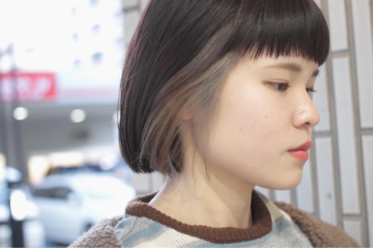 アッシュグレージュ ヘアワックス インナーカラー モード ヘアスタイルや髪型の写真・画像 | 小林 明彦 / ROSSO下北沢