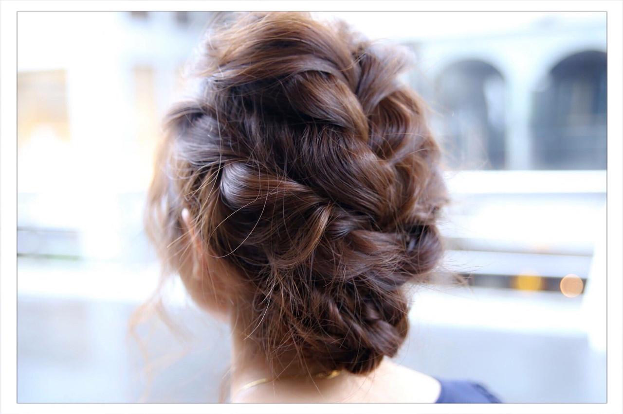 結婚式 ロング ヘアアレンジ まとめ髪 ヘアスタイルや髪型の写真・画像