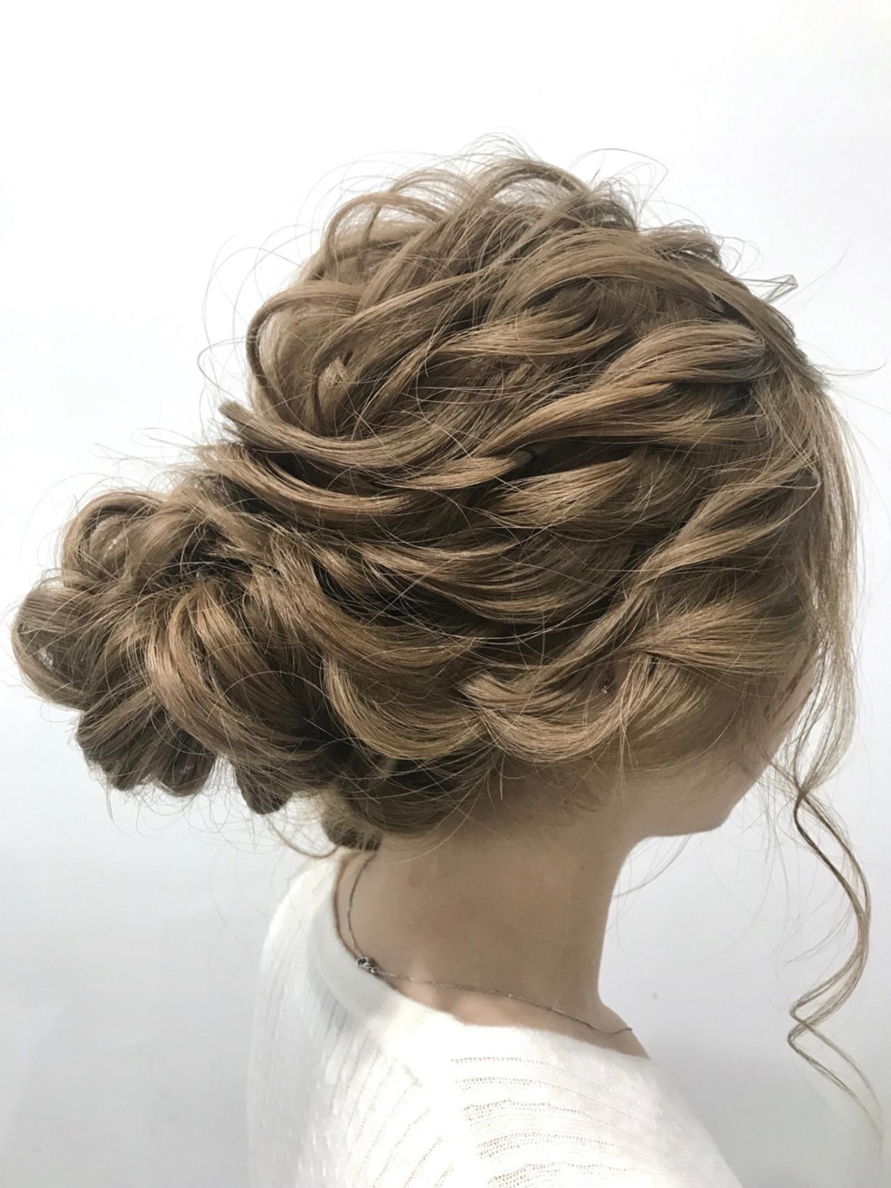 ヘアアレンジ ロング シニヨン エレガント ヘアスタイルや髪型の写真・画像