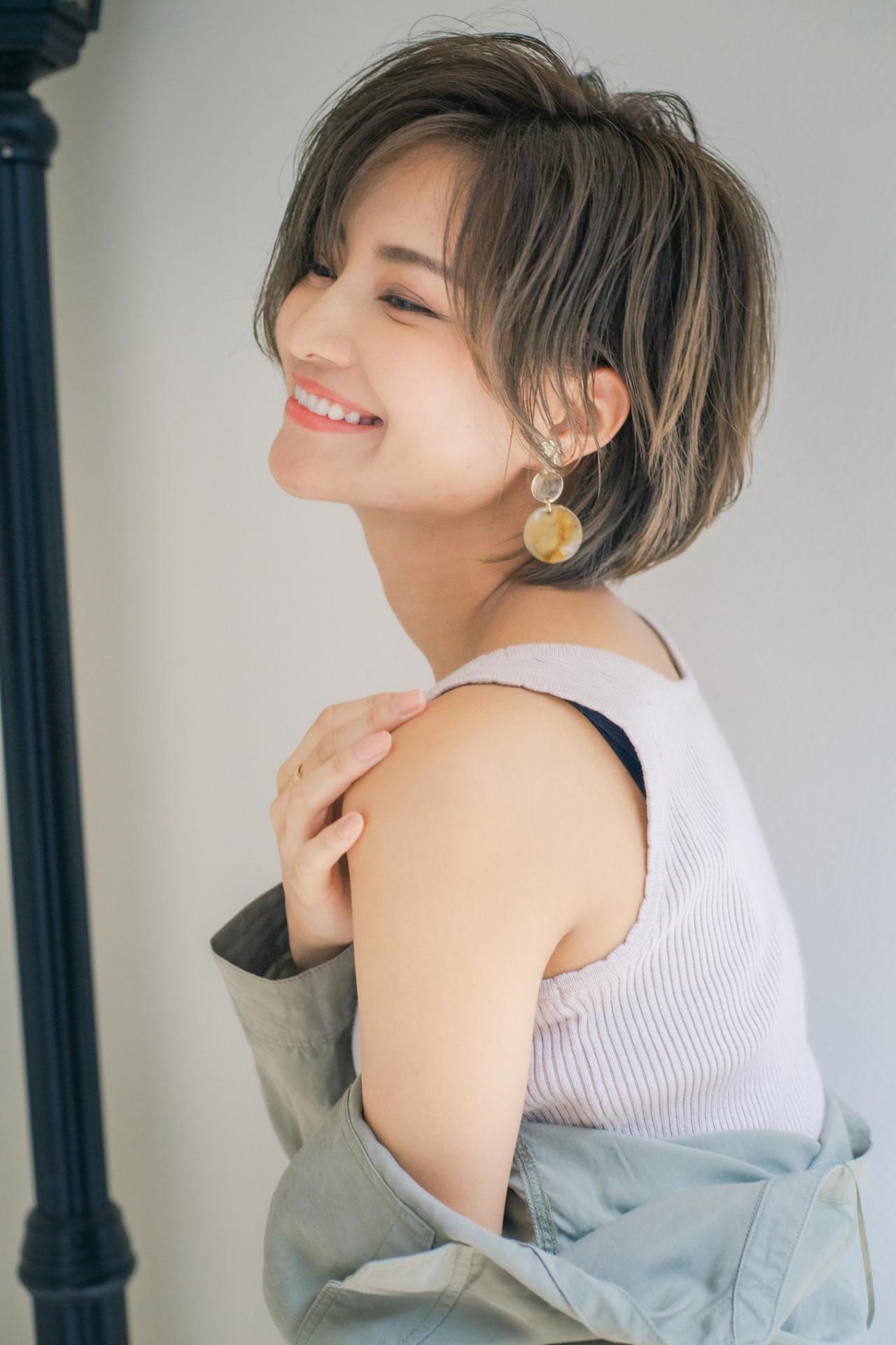 ショートヘア ふんわり 大人可愛い 可愛い ヘアスタイルや髪型の写真・画像 | 山口 健太 / Lond ange