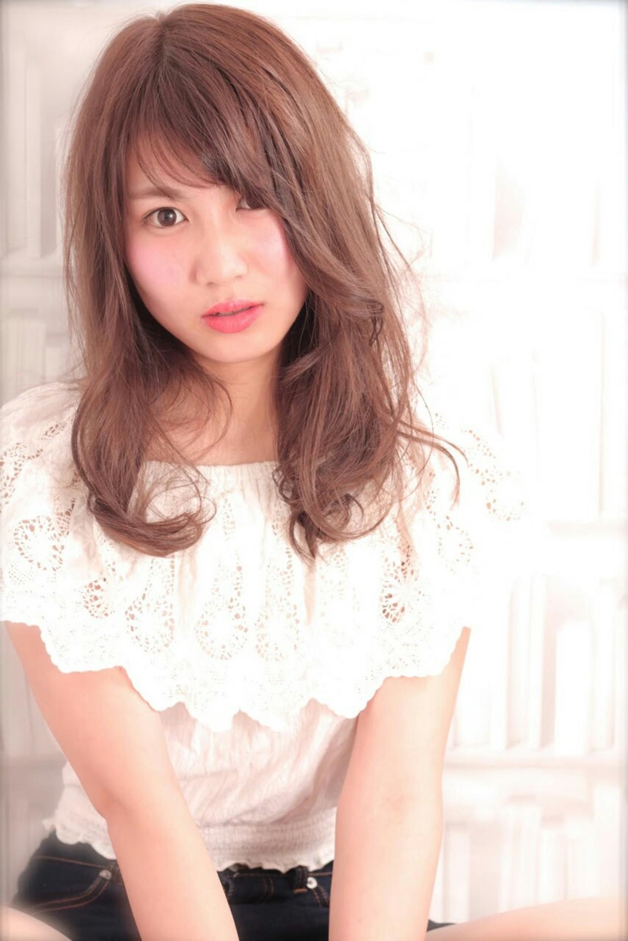 アッシュ 外国人風 パーマ ロング ヘアスタイルや髪型の写真・画像