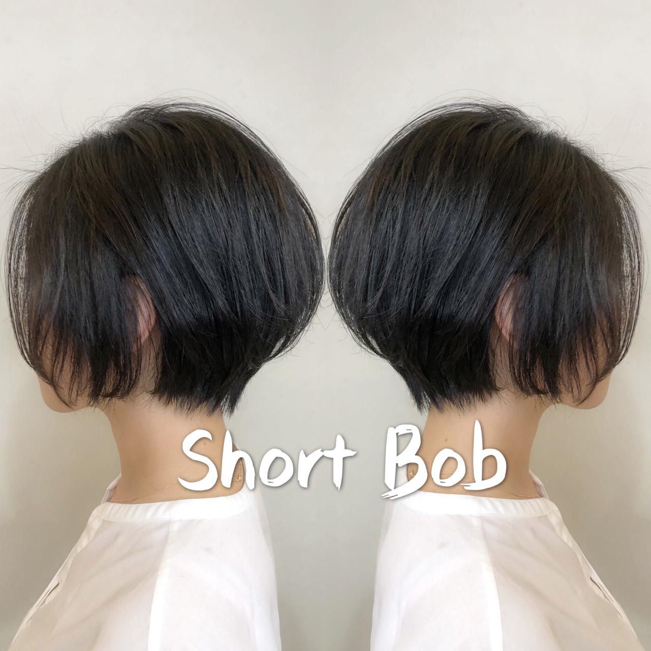 ショートヘア ショート ナチュラル 小顔ショート ヘアスタイルや髪型の写真・画像