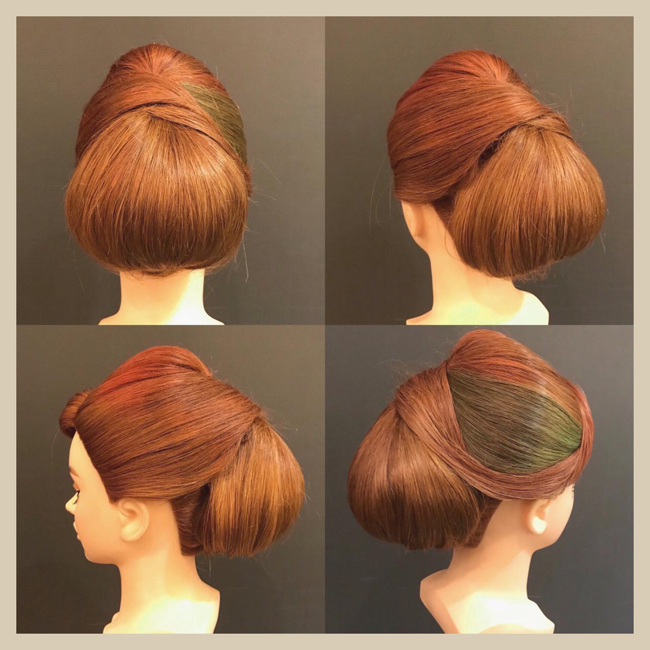 セミロング エレガント 着物 上品 ヘアスタイルや髪型の写真・画像