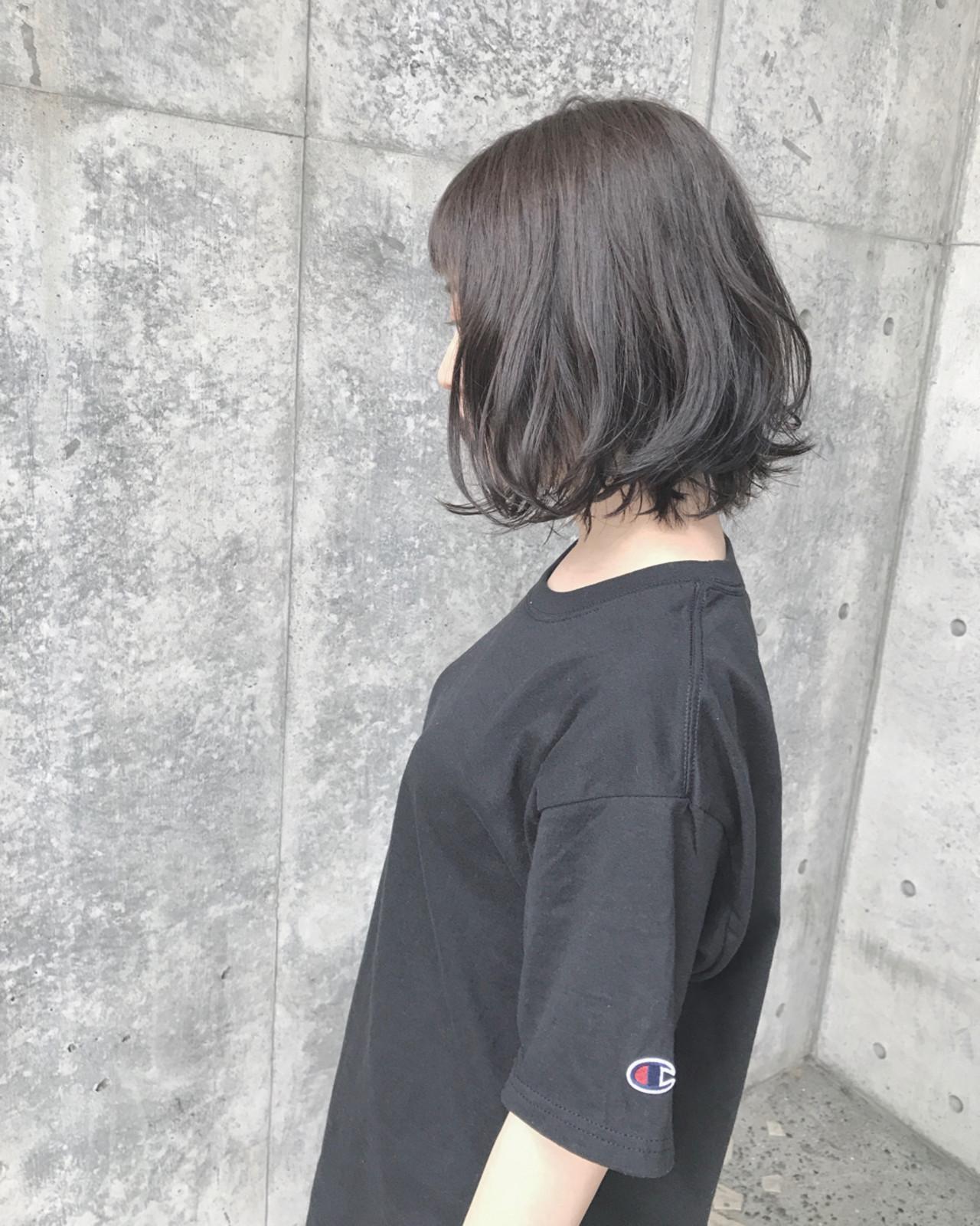 ナチュラル 外ハネ ボブ パーマ ヘアスタイルや髪型の写真・画像   Wataru Maeda / cache cache