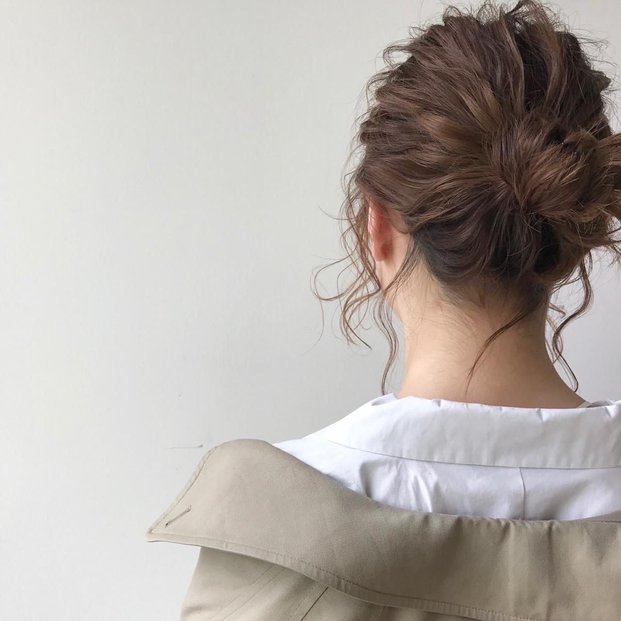 ヘアアレンジ ナチュラル 簡単ヘアアレンジ ショート ヘアスタイルや髪型の写真・画像