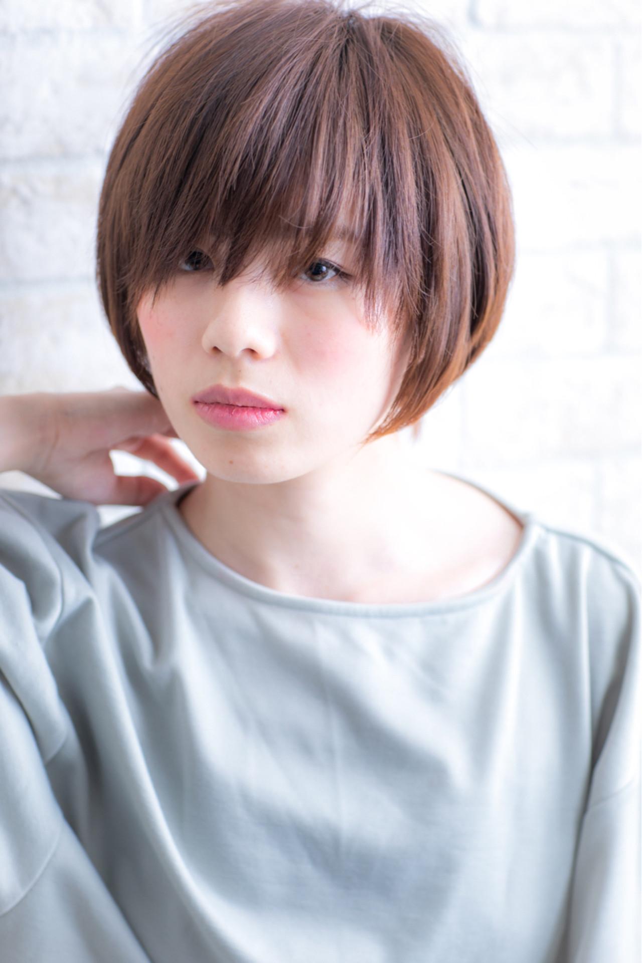 小顔 ボーイッシュ ショート 似合わせ ヘアスタイルや髪型の写真・画像   鈴木輔 / elde9's HAIR STAND
