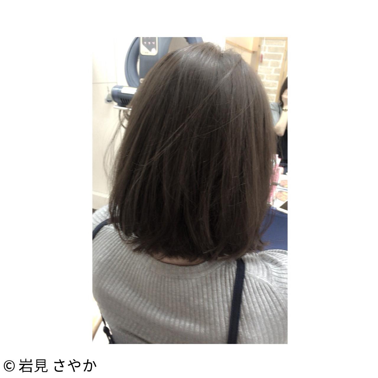ボブ 切りっぱなし アッシュ ストリート ヘアスタイルや髪型の写真・画像 | 岩見 さやか / hairsalon   mino