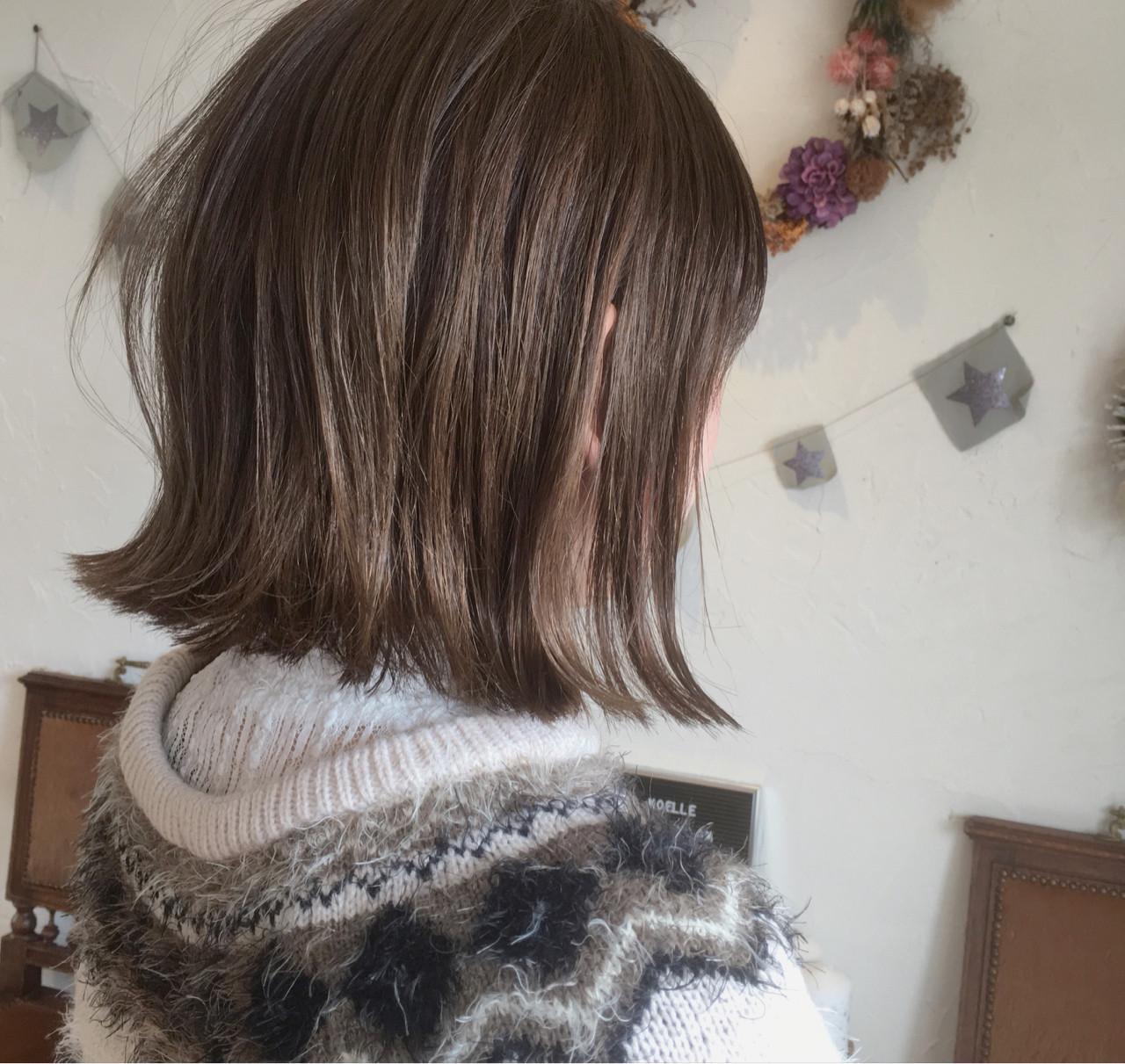 スポーツ ボブ 大人かわいい アッシュ ヘアスタイルや髪型の写真・画像   川内道子 instagram→michiko_k / Noelle インスタ→michiko_k