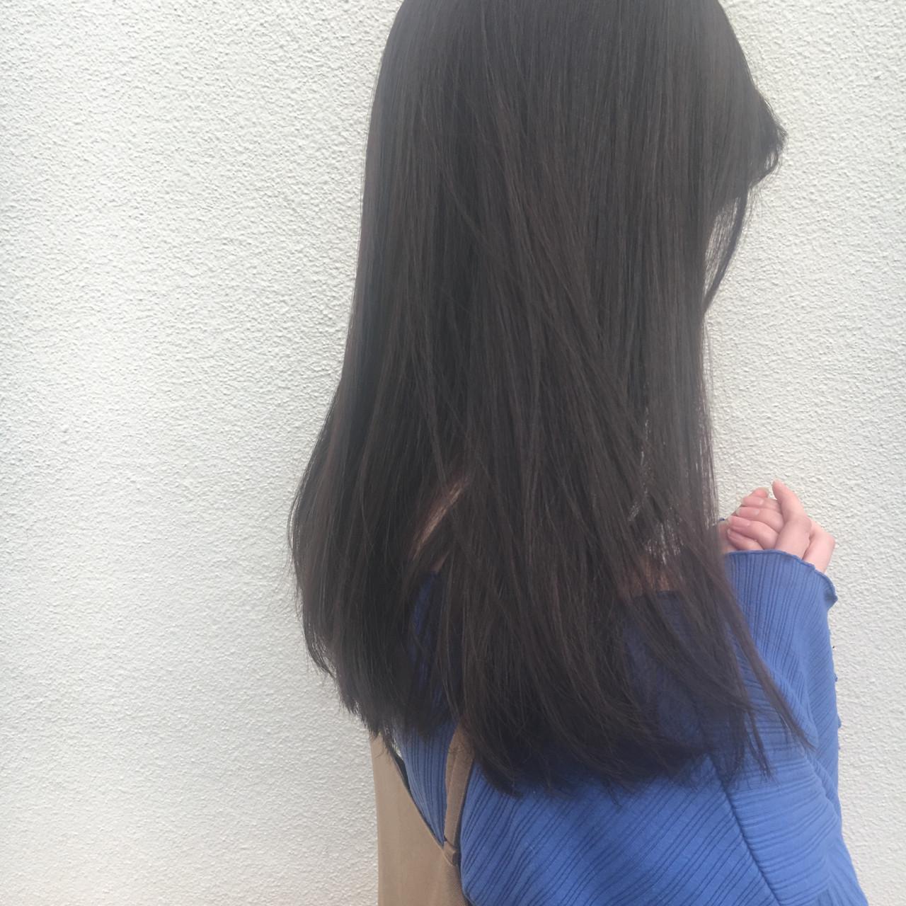 大人かわいい 外国人風 透明感 暗髪 ヘアスタイルや髪型の写真・画像
