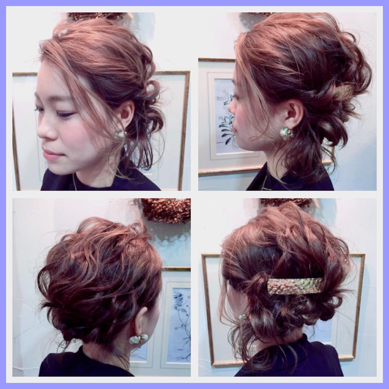 ヘアアレンジ ショート ボブ ミディアム ヘアスタイルや髪型の写真・画像
