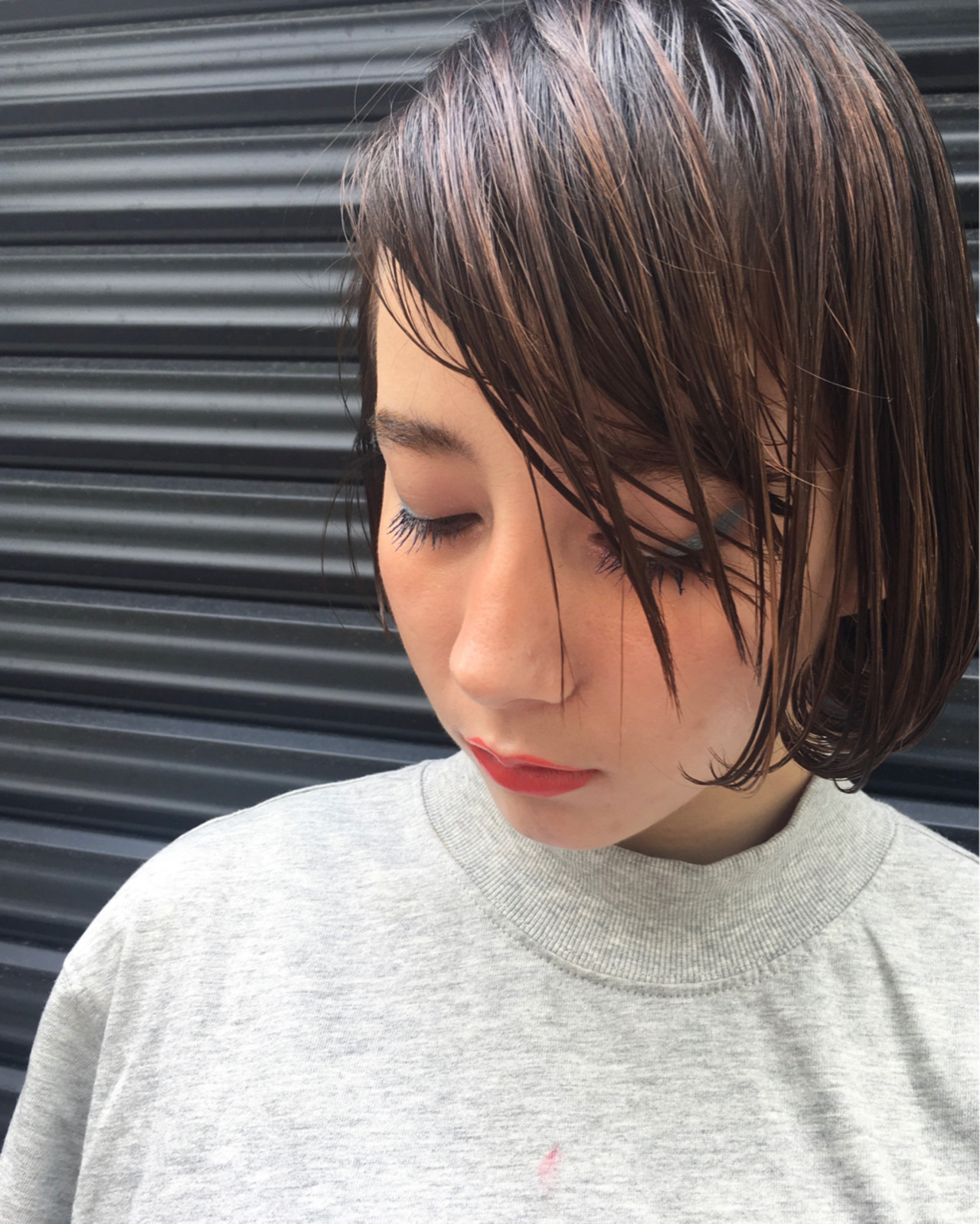 大人女子 ニュアンス 前髪あり 黒髪 ヘアスタイルや髪型の写真・画像 | Sachiko Handa / assort