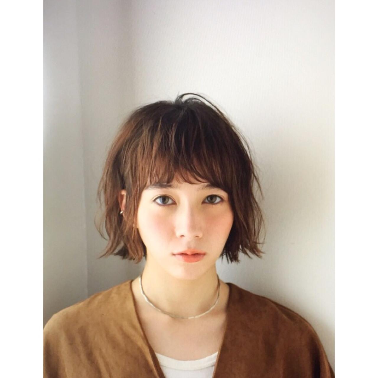 色気 パーマ ガーリー ミディアム ヘアスタイルや髪型の写真・画像