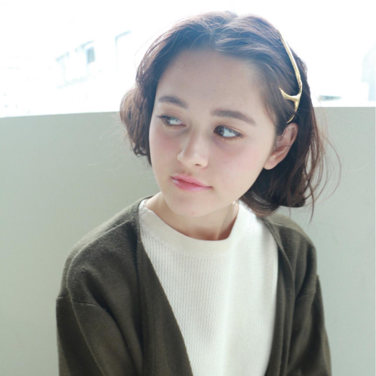 ヘアアレンジ 透明感 大人女子 暗髪 ヘアスタイルや髪型の写真・画像
