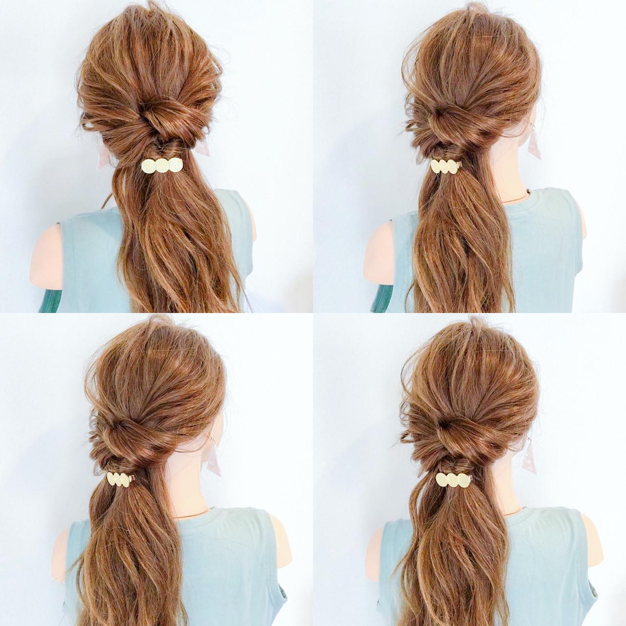 ヘアアレンジ デート オフィス 夏 ヘアスタイルや髪型の写真・画像