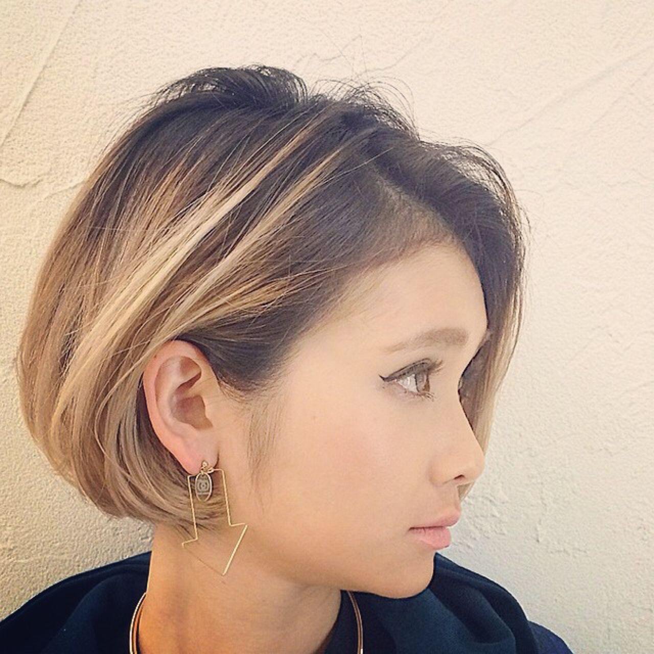 ボブ ストレート 外国人風 ストリート ヘアスタイルや髪型の写真・画像 | RUMINA //高田ゆみこ / Rumina