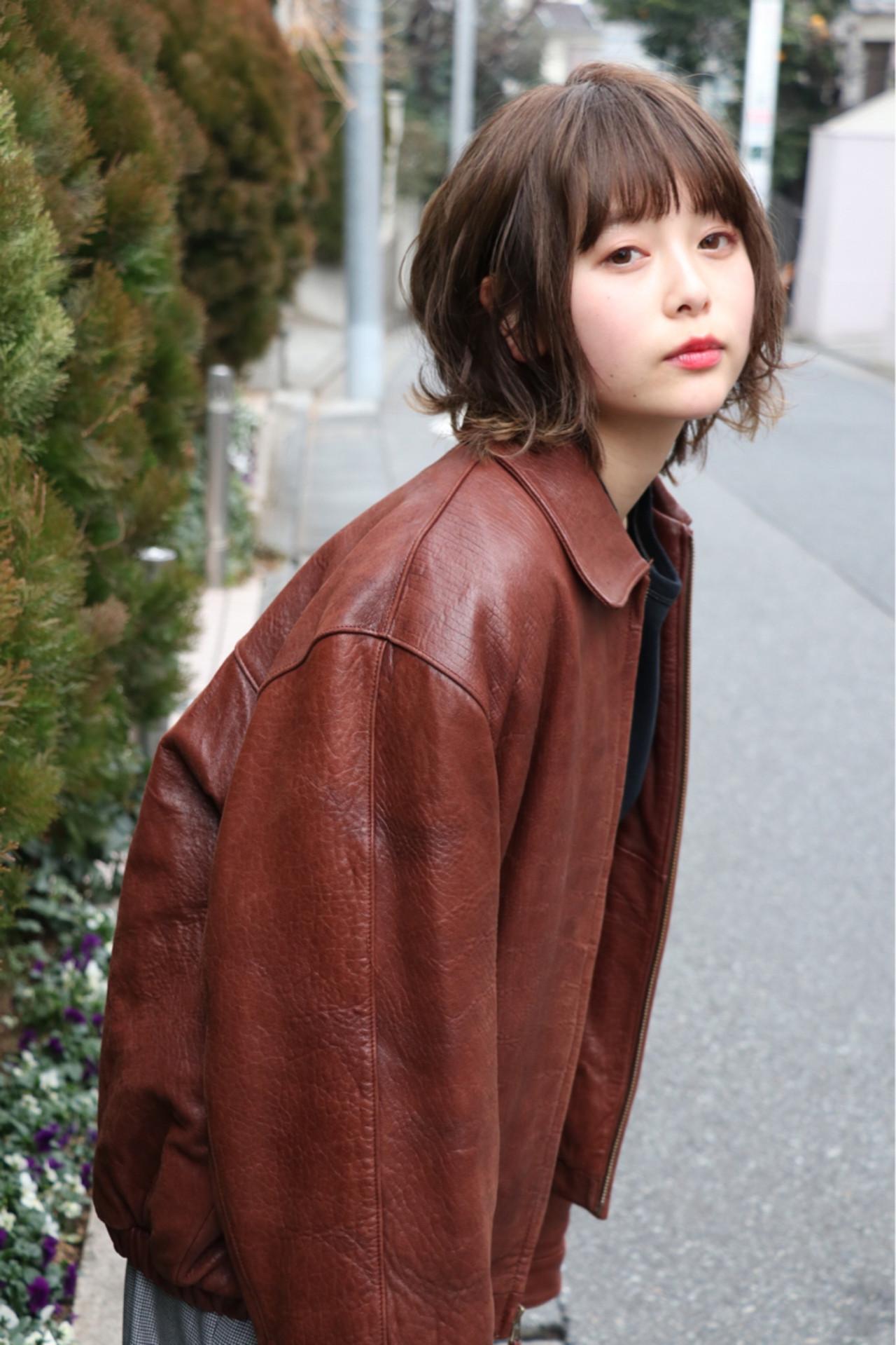 抜け感 外ハネ 大人かわいい 前髪あり ヘアスタイルや髪型の写真・画像 | 浦野 陽介 / free-lance