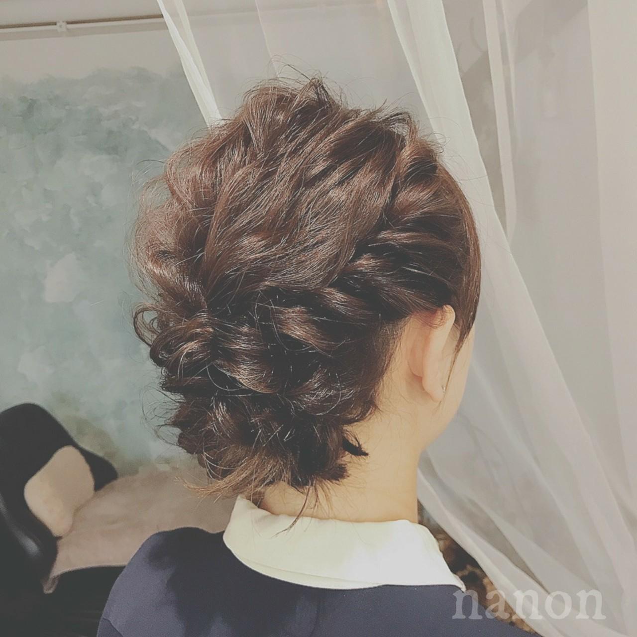 パーティ 大人かわいい 結婚式 ヘアアレンジ ヘアスタイルや髪型の写真・画像 | 浦川由起江 / nanon