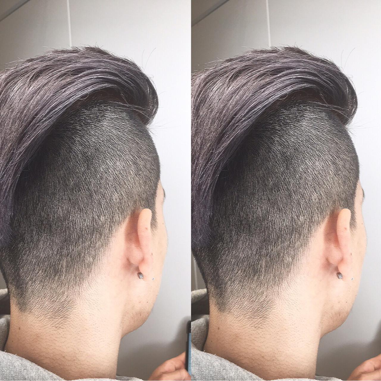 ショート ホワイト メンズ ストリート ヘアスタイルや髪型の写真・画像