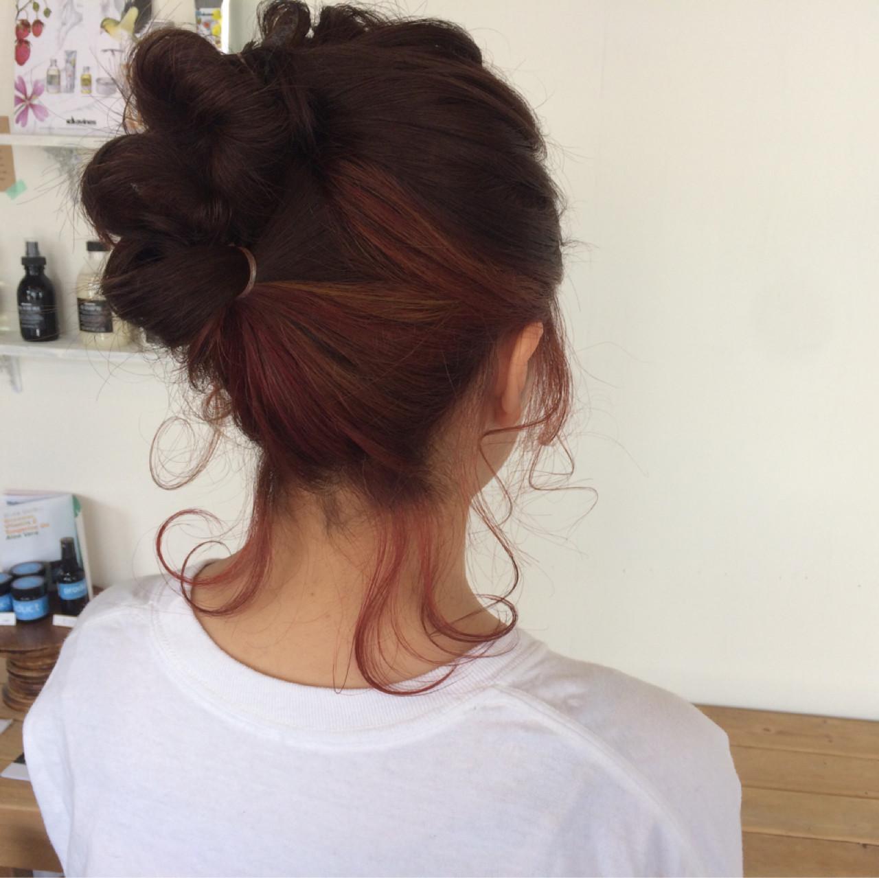 ボブ ストリート ミディアム ヘアアレンジ ヘアスタイルや髪型の写真・画像