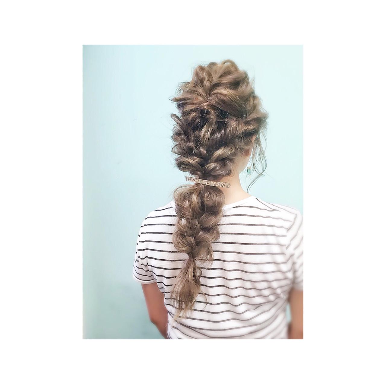 ヘアアレンジ ロング ゆるふわ 簡単ヘアアレンジ ヘアスタイルや髪型の写真・画像   teddy / grauge hair