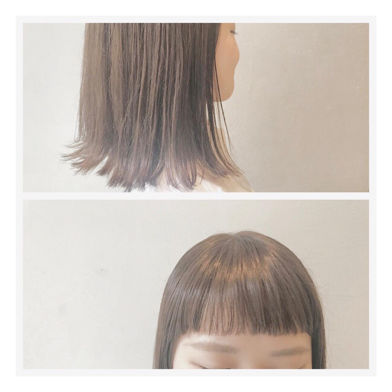 女子会 雨の日 ミディアム 梅雨 ヘアスタイルや髪型の写真・画像   落合 瞳 / freelance